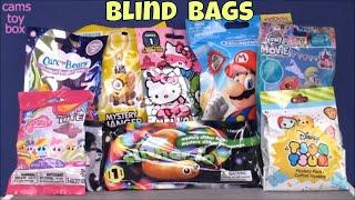 Blind Bags Opening Toy Surprises Nintendo Disney Tsum Tsum 10 Care Bears Minions SliterIO MLP Kids