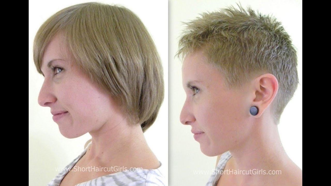 Short hairstyles makeover