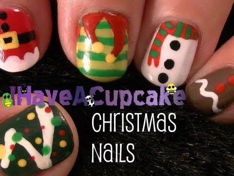 christmas nail art  youtube