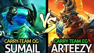 OG.SUMAIL Morphling VS EG.RTZ Troll Warlord - Epic Battle Carry Top Team 7.24 Dota 2