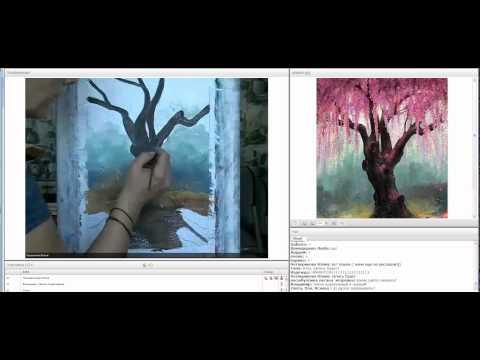 Уроки рисования гуашью - видео