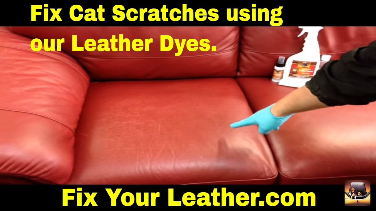 how to fix cat scratches on a leather couch youtube. Black Bedroom Furniture Sets. Home Design Ideas