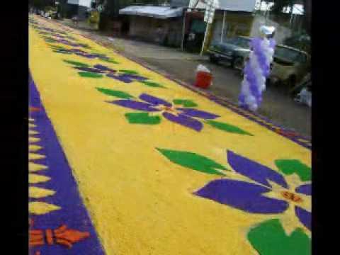 Alfombras de aserrin al se or de los corazones huajuapan for Todo alfombras