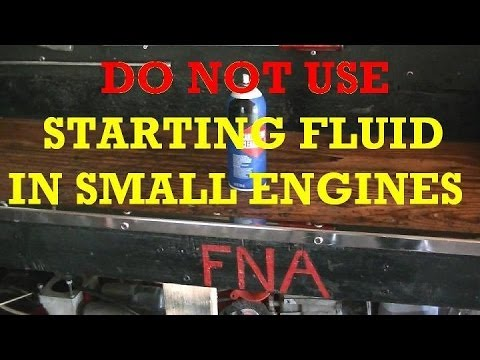 Quick Tip #8 Do Not Use Starting Fluid In Small Engines ...