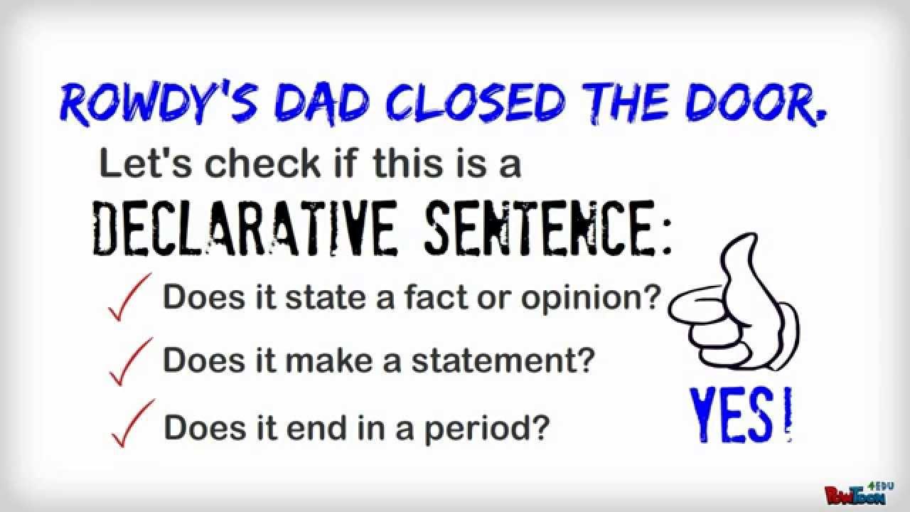 Sentence Types  Declarative  YouTube