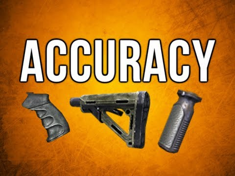 Black Ops 2 In Depth - Accuracy Myths: Stock, Laser, Quickdraw Handle, Stance, & More
