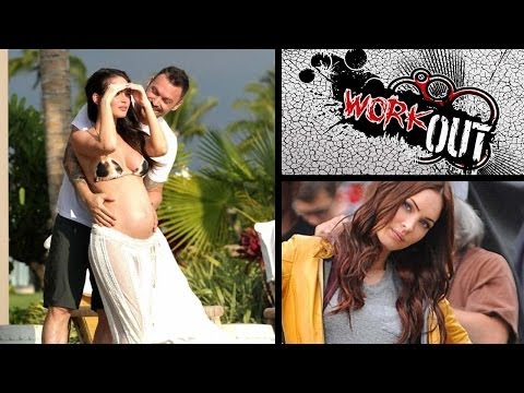Megan Fox abs & full body fitness home workout Harley Pasternak