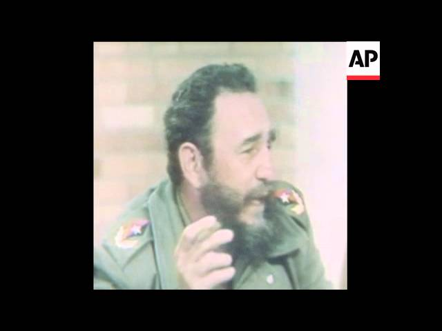 SYND 26 5 77 FIDEL CASTRO TALKS ABOUT ETHIOPIA
