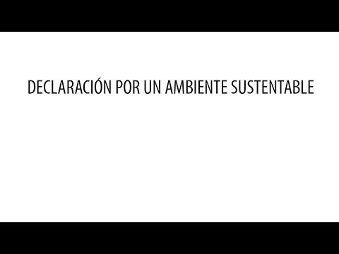 Declaración por un ambiente sustentable