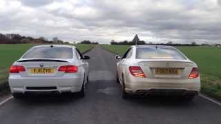 Mercedes C63 AMG Coupe vs BMW M3 E92