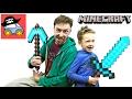 МАЙНКРАФТ ПЕРВАЯ НОЧЬ прячемся В КАНАВЕ от Зомби Крипера и Эндермена Картонка Minecraft mp3