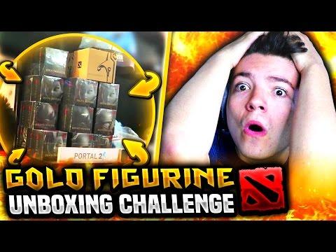 GOLD FIGURINE UNBOXING CHALLENGE!