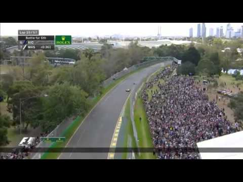 2016 Formula 1 Huge Crash Fernando Alonso & Guiterrez Australian Grand Prix Albert Park Melbourne