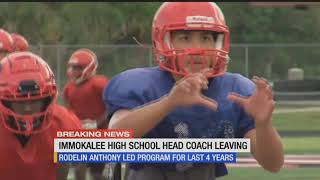 Rodelin Anthony stepping away from Immokalee football after four years