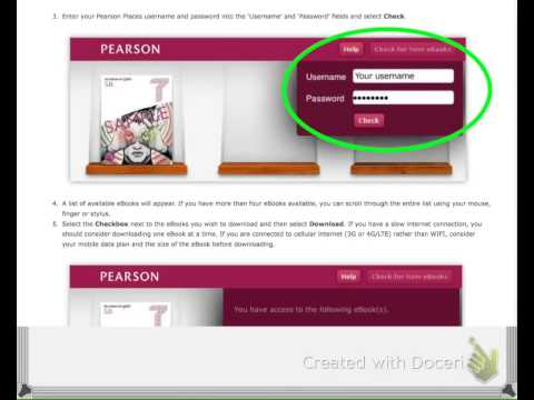 How to download a Pearson eBook into a PDF file?