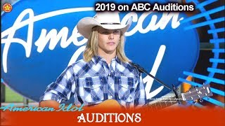 Austin Michael Robinson 15 years Old  Cowboy | American Idol 2019 Auditions