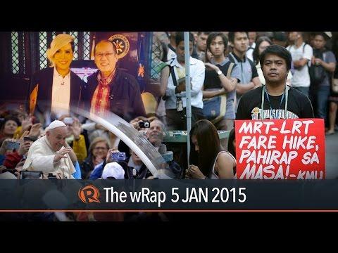 MRT hike, Aquino on Purisima, Vatican on PH   The wRap