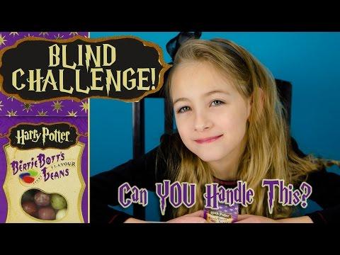 BERTIE BOTTS HARRY POTTER Jelly Beans BLIND Food CHALLENGE | PLP