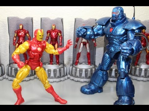 Iron Man 3 Marvel Legends Classic Iron Man Iron Monger Build A Figure Wave Figure Review
