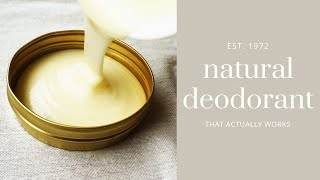 NATURAL DEODORANT recipe // less waste, vegan & homemade