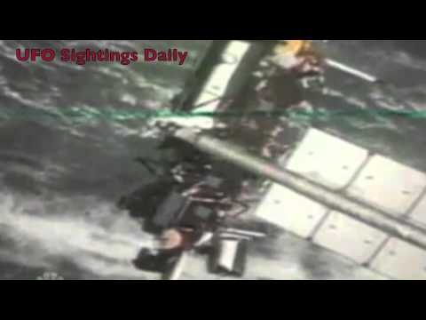 Two UFOs Emerge From Spy Satellite On National TV, Sept 22, 2011 UFO Sighting News.
