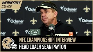 Coach Sean Payton Previews NFC Championship Game vs Rams - Wednesday Interview | New Orleans Saints