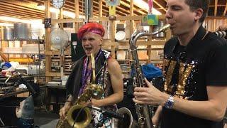 Leo P Eli Bennett Saxophone Funk Jam A Winnipeg Folk Festival