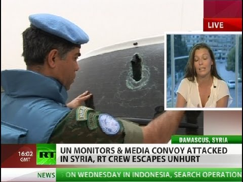 UN monitors & media convoy attacked in Syria, RT crew escapes unhurt