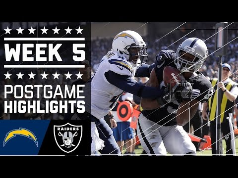 Chargers Vs Raiders Nfl Week 5 Game Highlights