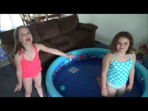 "2 Swimming Pools In Our House! ""Victoria & Annabelle Toy Freaks"""