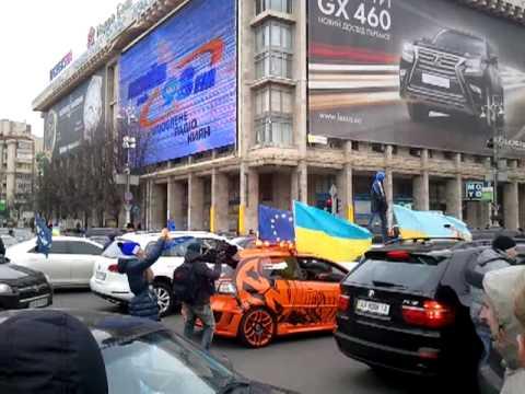 Беспредел на майдане, перекрыли дорогу на крещатике 01.12.13