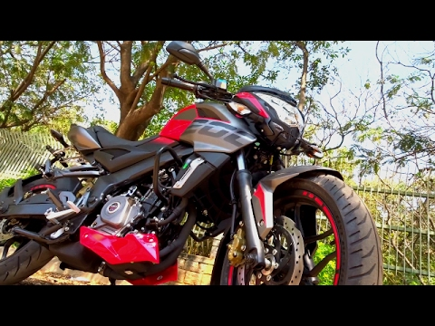 2017 Pulsar 200 NS Laser Edged First Ride Review. Walkaround. Exhaust Note