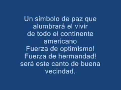 Himno De Las Americas   Listo video