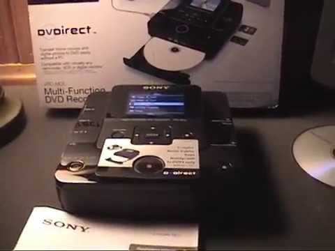 Sony DVDirect VRD-MC6 Overview & Demonstration