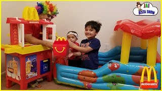 McDonald's Drive Thru Kids Pretend Play | Kids Fun Pretend Play Toy Kitchen Set | Jai Bista Show