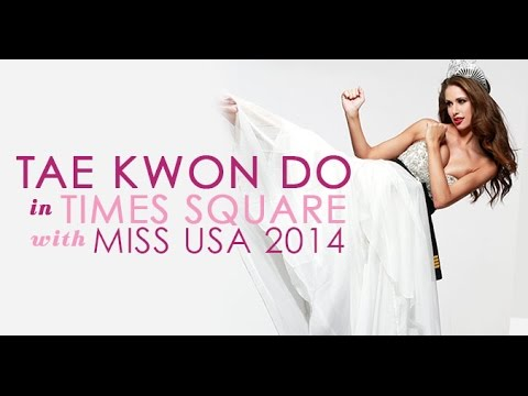 Tae Kwon Do in Times Square with Miss USA 2014 Nia Sanchez Image 1