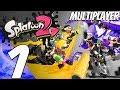 Splatoon 2 - Multiplayer Gameplay Session Part 1 - TURF WAR (Launch Day)