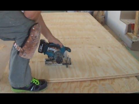 Plywood Subfloor Leveling With Plywood Sheets Youtube