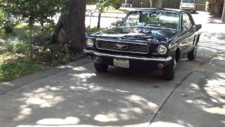 Beautiful 1966 mustang V8 starts on key! In full HD!