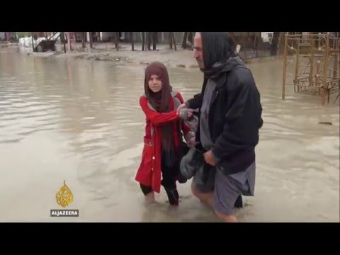 Heavy rain turns the streets of Kabul into rivers
