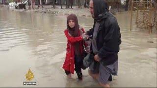 Heavy rain turns the streets of Kabul into rivers