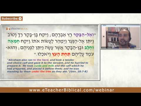 Abraham and the three angels. l Biblical Hebrew Webinar by eTeacherBiblical.com