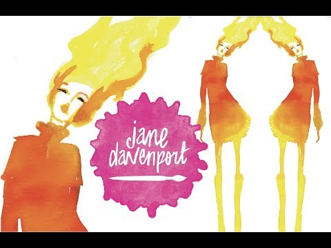 Jane Davenport mini fashion illustration INKredible Inks