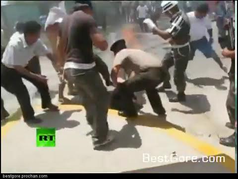 soldado peruano quemandose -comoando-