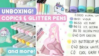 Unboxing! New Copics, Glitter Pens and more! *-* KiraKiraDoodles