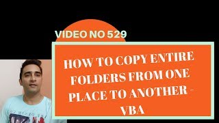 Learn Excel - Video 529 - VBA -COPY OR MOVE FOLDERS