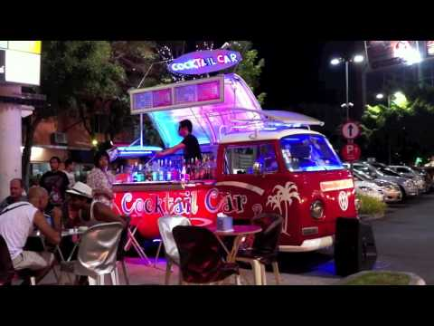 Volkswagon VW Combi Van Cocktail Bar Car. Pattaya. Thailand