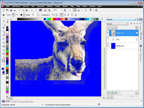 Corel PHOTO-PAINT Tutorial - Schatten und Transparenzen nutzen