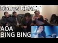 AOA - BING BING (빙빙) 5Guys MV FUNNY REACT