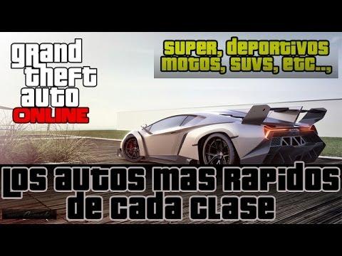 GTA V Online - Los autos mas rapidos de cada CLASE.! Deportivos,Super,Suvs etc...